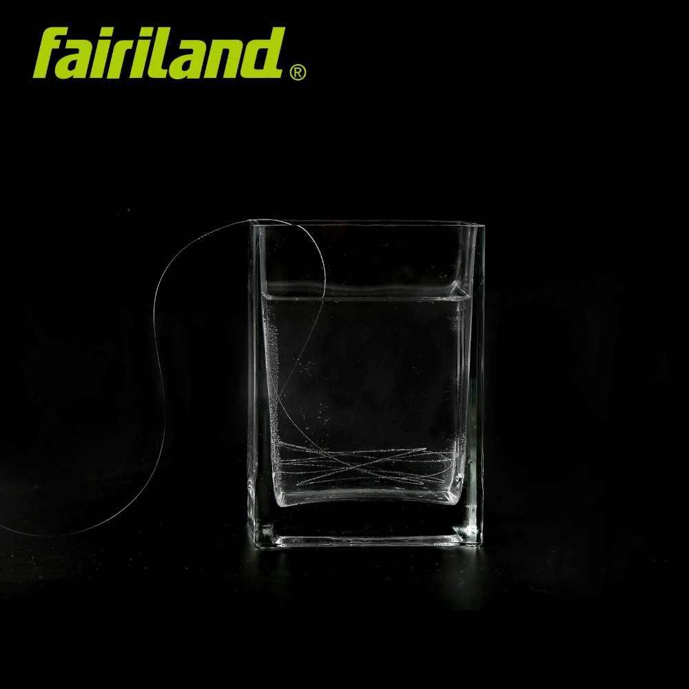 Línea de pesca de 100 M/109 yardas PVDF material de línea de fluorocarbono monofilamento Alambre de carpa línea líder líneas de fibra de carbono transparente