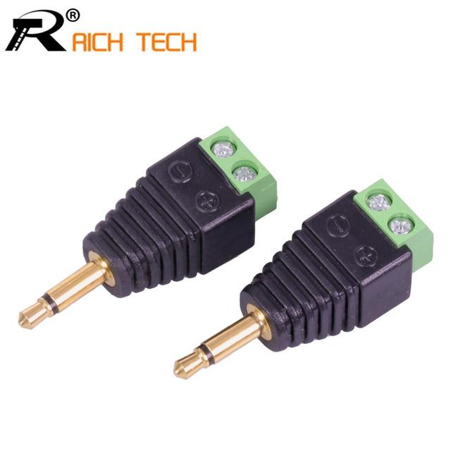 video av balun 3 5mm 1 8 mono male to av screw terminal mono jack rh aliexpress com 1 4 to 3.5Mm Adapter 3 to 1 Plug Adapter
