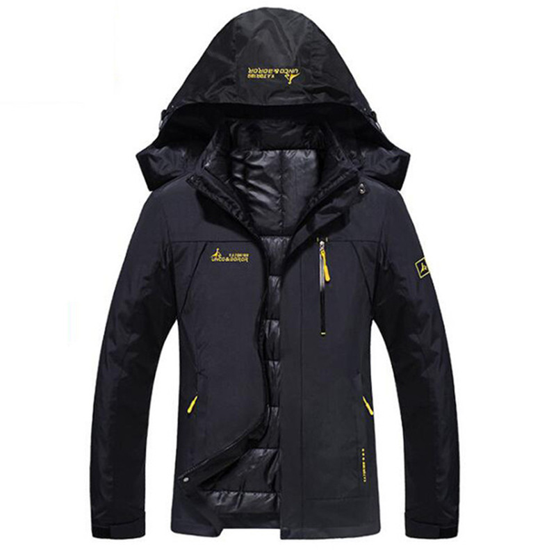 New Winter Waterproof Warm Jacket Women Thermal 2 in1 Parkas Coats Female Outdoors Windproof Thick Winter