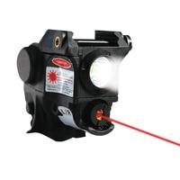 LASERSPEED Tactical Pistola Light Flashlight Gun + Red Laser Sight MIL STD 1913 Picatinny Rail Mini Lanterna Glock 17 19