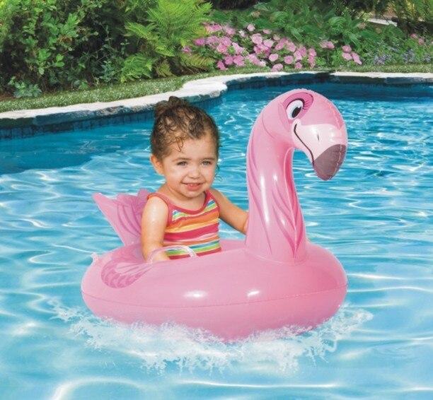 Halloween Christmas Gift Inflatable Pink Flamingo Ride On