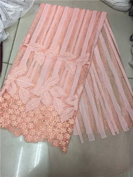 Fashionable design African lace fabric High embroidery guipure lace fabric Swiss Voile Lace embroidery tulle lace for dress sewi