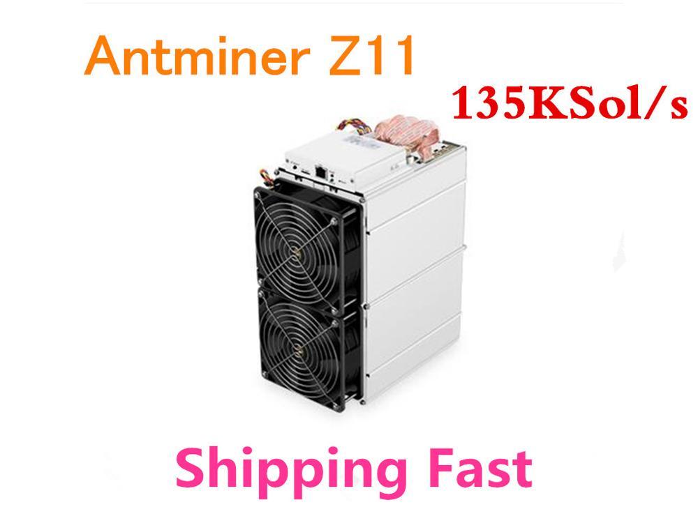 Em Estoque Antminer Z11 135 k Sol/s 1418 W ZEC ZCASH Equihash Asic Miner Better Than Z9 Antminer s9 S11 S15 Innosilicon A9