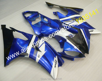 For Yamaha YZF600 R6 08 09 10 11 12 13 14 16 YZF-R6 2008-2016 YZFR6 body Fairing blue black white (Injection molding)