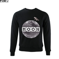 FORUDESIGNS 2018 Newest Men Hoodie Fluff No Hat Man S Sweatshirt Moon Print 3D Hoodies Mens