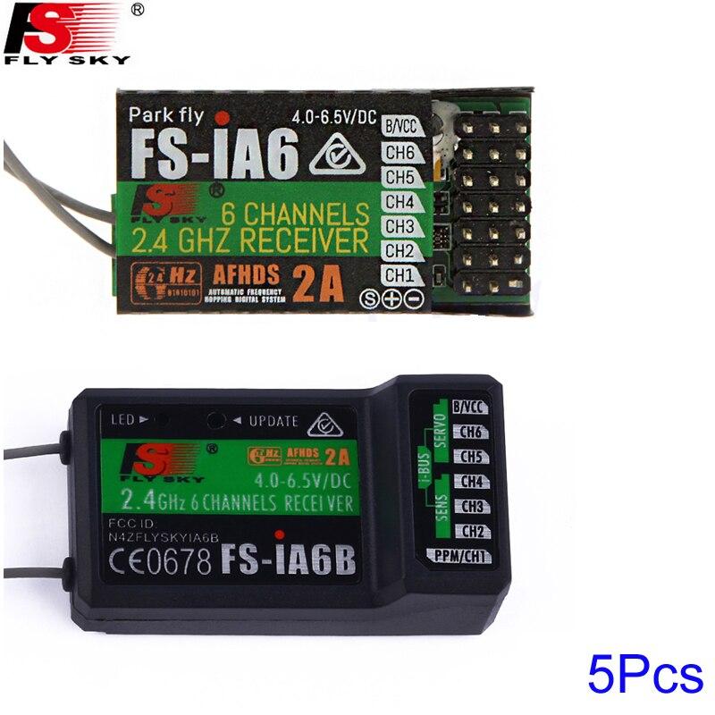 5 unids/lote flysky FS-iA6 FS-iA6B 6CH 6 canales receptor de control remoto compatible flysky I4 I6 i10 GT2E GT2F GT2G transmisor