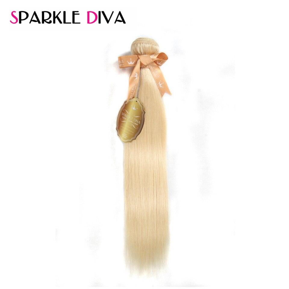 SPARKLE DIVA HAIR Brazilian Blonde Straight Hair 100 Human Hair Weaving 12 24 Inches Bundles