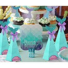 Omilut Mermaid Party Boxes Favors Birthday Gift Bags For Kids Baby Shower Under The Sea Decor Supplies