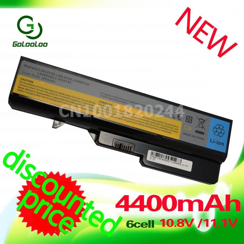 4400mAh Laptop Battery For Lenovo IdeaPad B470 Z370 G460 b570 b570e G560 G570 V370 V470 Z460 Z560 Z465 Z570 LO9S6Y02 L10P6Y22 ac adapter laptop charger 20v 3 25a 5 5 2 5mm for lenovo ibm z500 b470 b570e b570 g570 g470 z500 g770 v570 z400 p500 p500 series