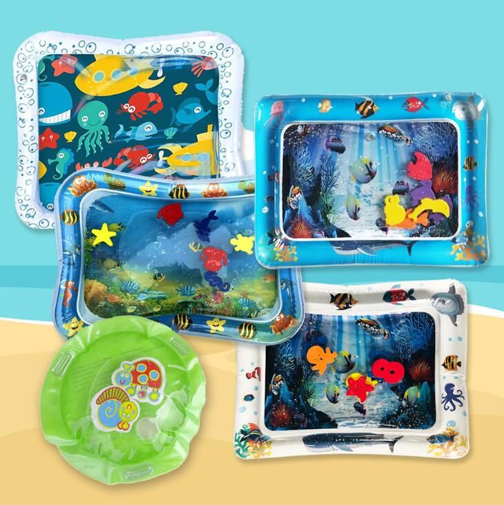 Inflatable Baby Play Water Mat Kids Developing Mat Thickened Toddler Fun Activity Play Baby Pad