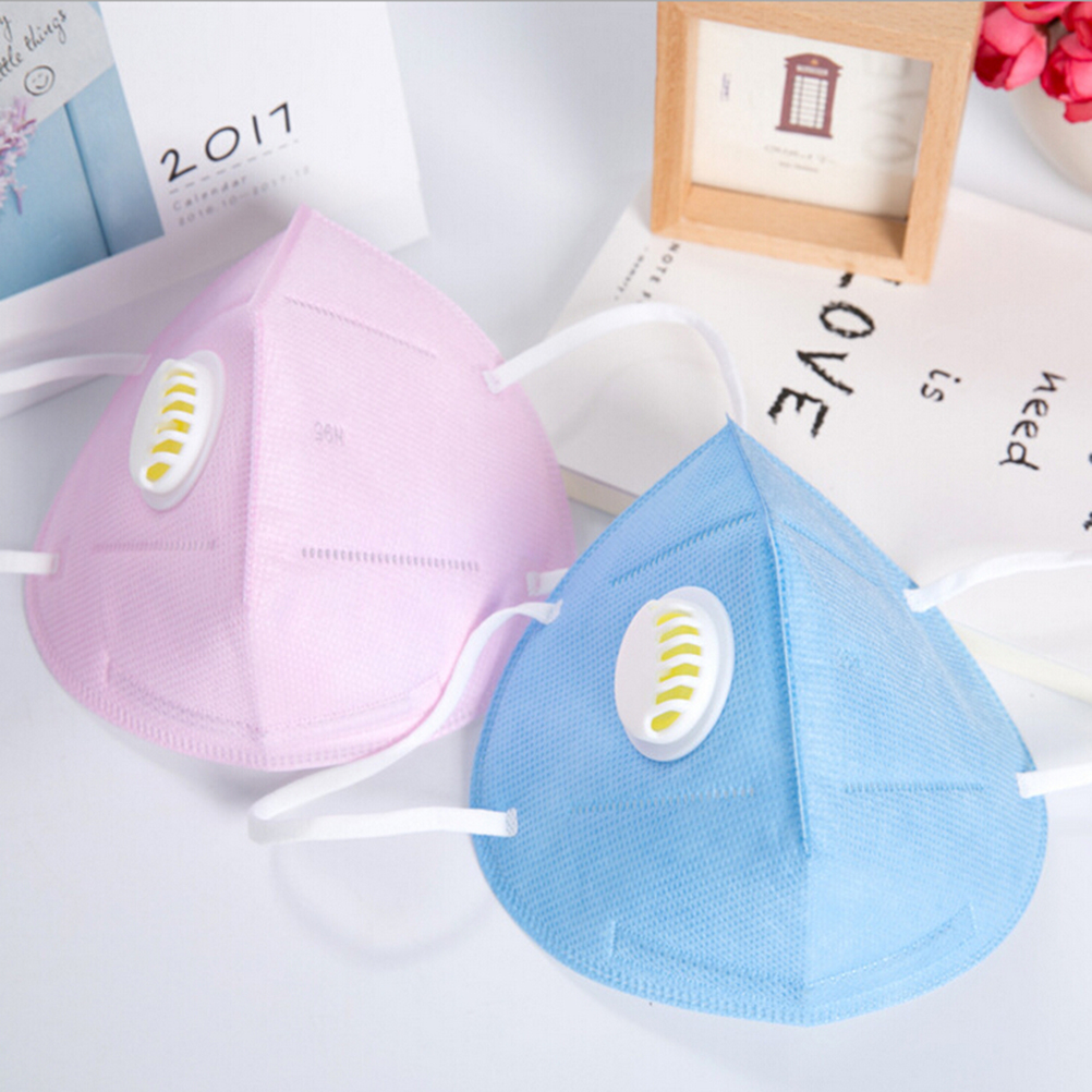 1Pc PM2.5 Masks Air Pollution Non-woven Anti-fog Filter Daily Use Vertical Folding Safe Masks Antivirus Dust Anti Fog Haze image