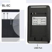 BL-5C сменный аккумулятор 1020mAh BL 5C аккумулятор+ USB зарядное устройство для мобильного телефона Nokia li-ion 3,7 V BL5C