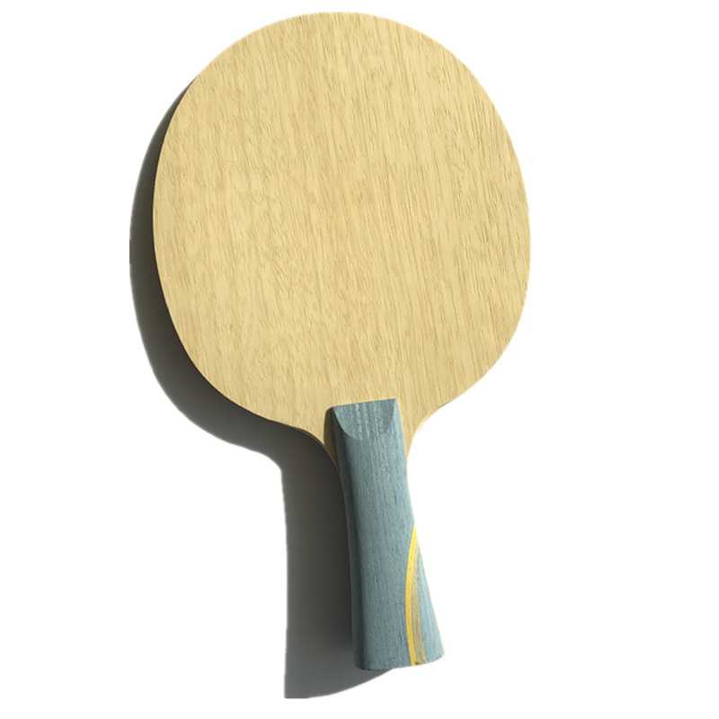 5 layers pure wood with 2 layers arylate carbon fiber long handle shake hold table tennis