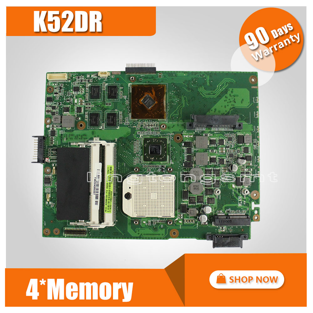 for ASUS K52DR laptop motherboard A52DE K52DE A52DR K52D Notebook mainboard HD5470 4pcs memory video card 100% tested for asus k43sv k43sj laptop motherboard 1g video card k43sv l new mainboard gt520m rev2 2
