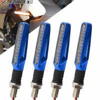 1 Pair Motorcycle Turn Signal Light Flexible 12 LED Turn Signals Indicators Universal Blinkers Flashers for Honda GROM MSX125