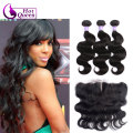 Grace hair Company 8a grade Burmese virgin unprocessed human hair ear to ear lace frontal closure with weave bundles body wave