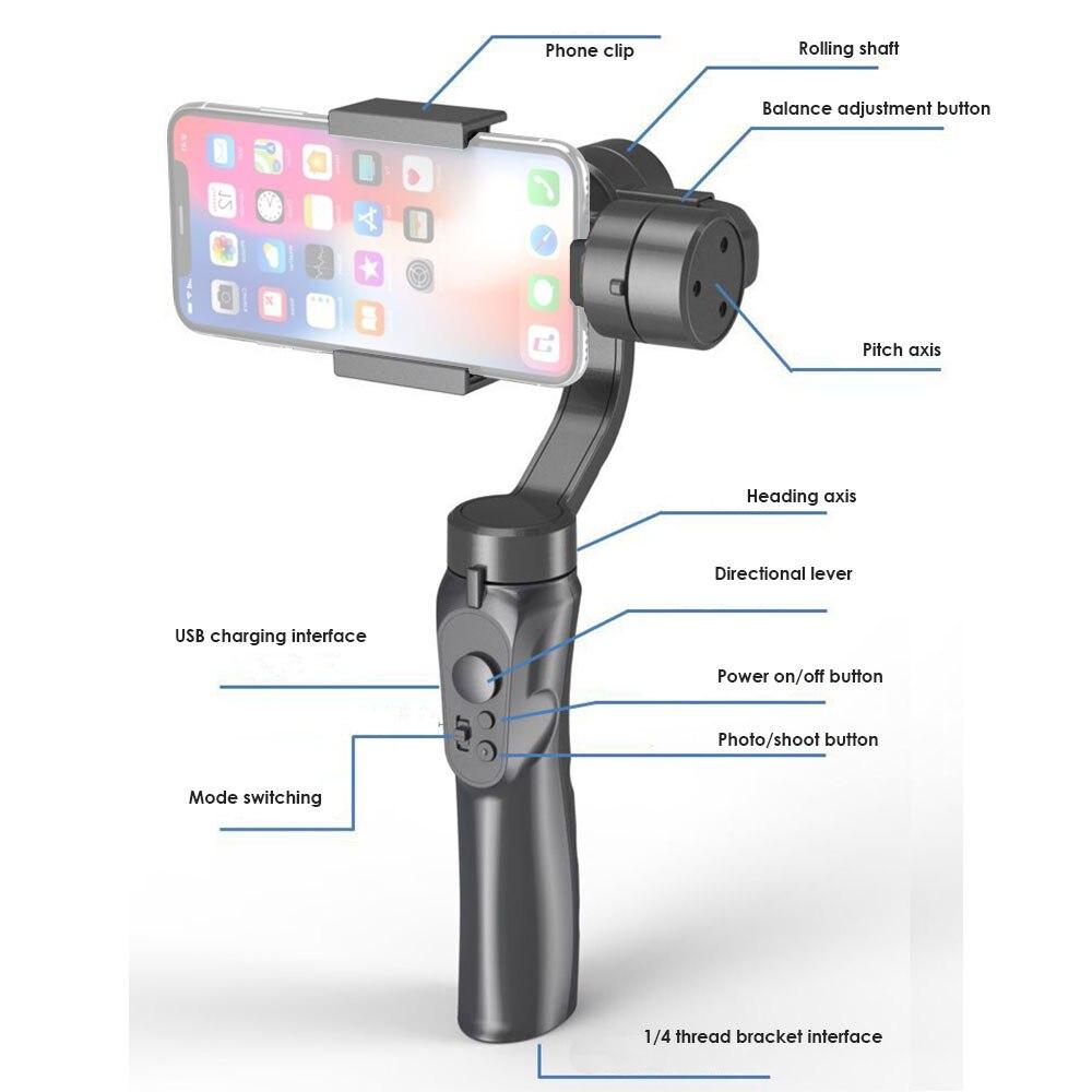 Hohem iSteady Pro 2/iSteady Pro Handheld Gimbal Stabilizer voor Gopro Hero 7/6/5/4 /3 DJI Osmo Action YiCam SJCAM Action Camera - 6