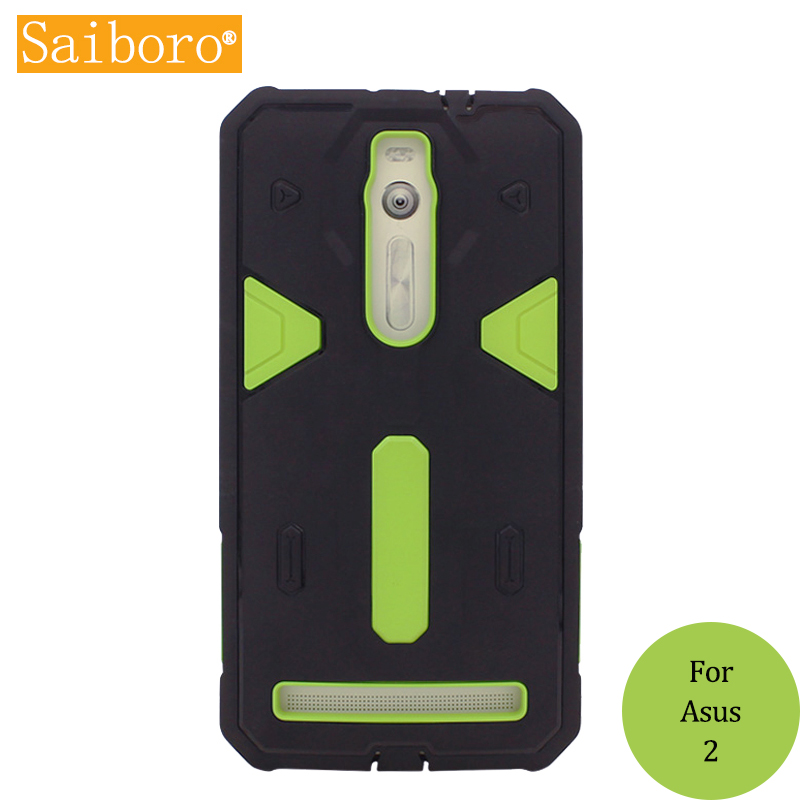 Saiboro For Asus Zenfone 2 case Anti-knock Armor Cases For Asus Zenfone 2 ZE551ML TPU+PC Hard Back Covers SBR 0307