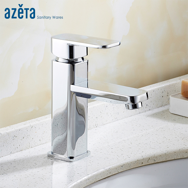 Azeta Free Shipping Faucet Modern Chrome Basin Mixer Bathroom Single Handle Basin Tap Deck Mounted Basin Faucet Torneira AT2806