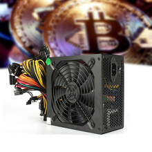 1600W Mining Power Supply 6 GPU Modular for Eth Rig Ethereum Coin Miner EM88