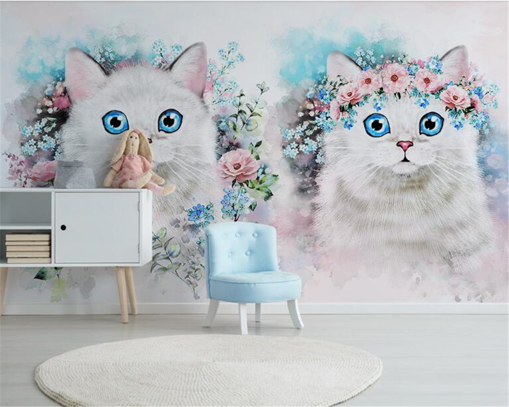 beibehang Custom personalized decorative papel de parede 3d wallpaper Nordic minimalist flower children s room decoration