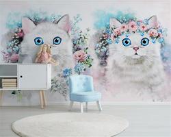 Beibehang заказ украшения на заказ papel де parede 3d обои Nordic Минималистский цветок детская комната украшения behang
