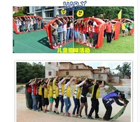 4m 2-4 People Rolling Band For Kindergarten Playing Game Fun Sport Meeting Outdoor Experiential Development
