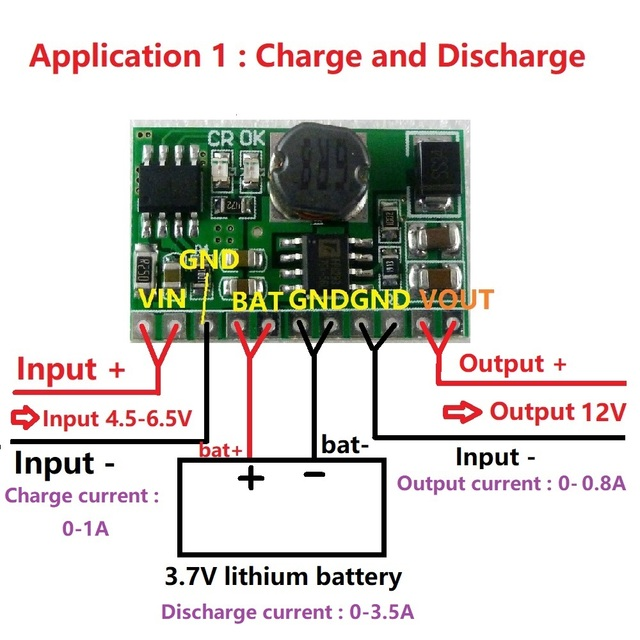 Digital Temperature Controller Circuit Diagram Spotlight Wiring Nissan Patrol 10w 12v Lithium Battery Charger & Discharger Board Dc Converter Step Up Module 3.7v 5v To ...