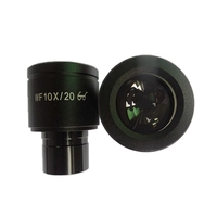 1 Pair WF10X 20mm Microscope Wide Angle Eyepiece High Quality Optical Lens With Mounting Size 23
