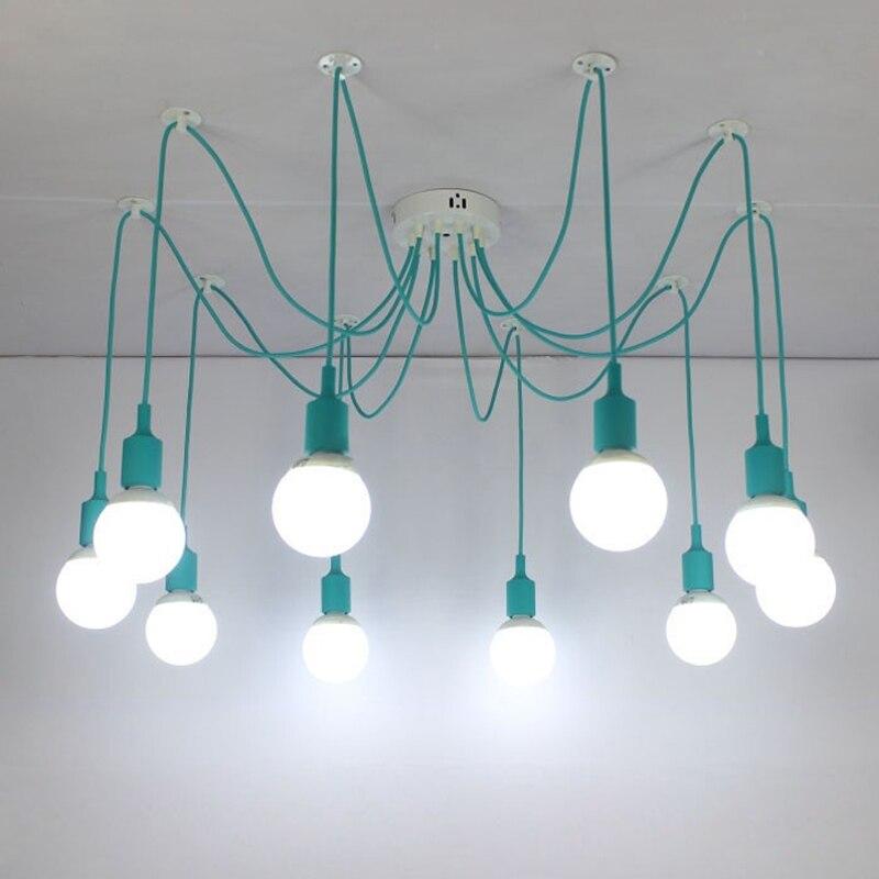 aliexpress koop e27 spider gekleurde hanglamp kinderkamer