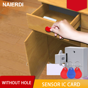 NAIERDI Invisible Sensor Lock EMID IC Card Drawer Digital Cabinet Intelligent Electronic Locks For Wardrobe Furniture Hardware