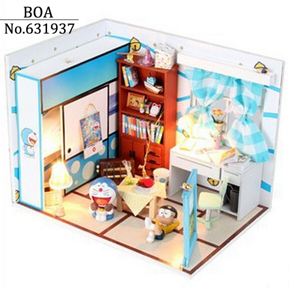 Diy Doll House Miniature Model Building Kits 3D Handmade Assembly Wooden Dollhouse Toy Creative Birthday Christmas gifts-