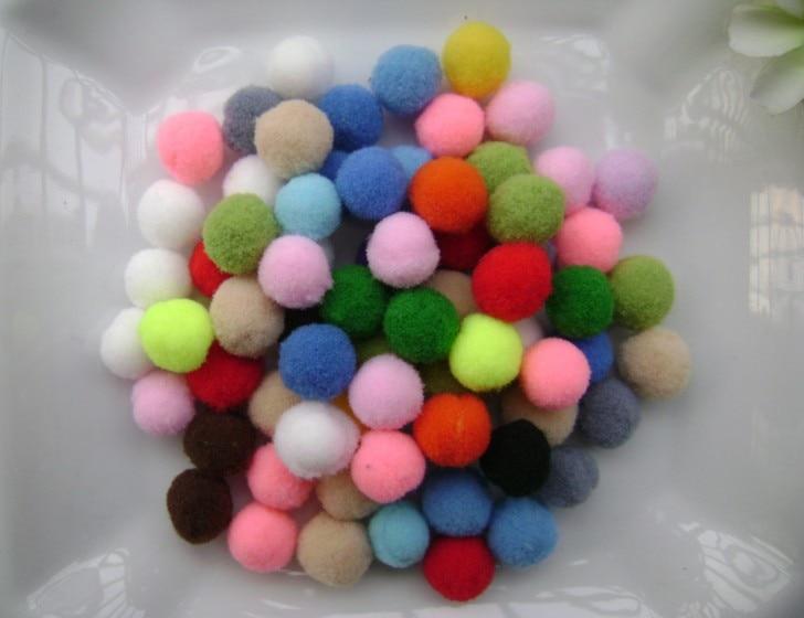 500pcs 15mm Assorted Mix Colour Fluffy Pom Poms Children Diy Crafts