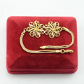 7inch Womens Girls Beauty Gold Plated Filled Link Flowers Bracelets Box Chains Bride Jewelry