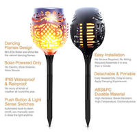 Solar 96LEDs Lawn Dancing flame Torch Lights radar 3 working mode NEW LED Solar Flame Flicke to Landscape Garden Lamp Torch Li