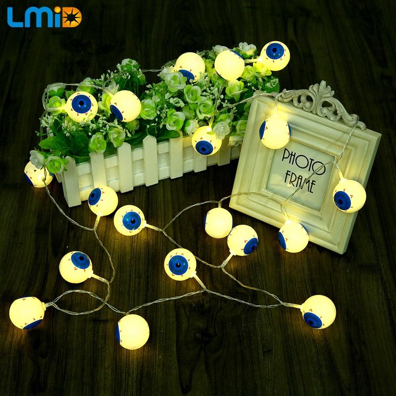 Lmid Батарея управлением 20 LED Средства ухода для век Рождество гирлянды мяч Строка Гирлянда Освещение для праздника Хэллоуин украшения