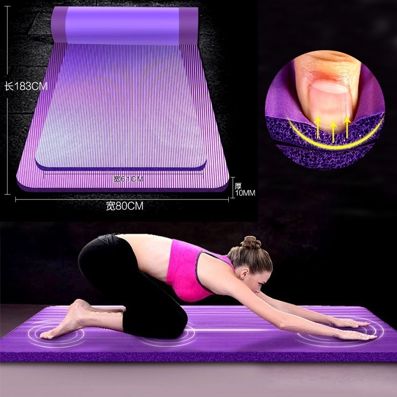 180MM 80MM 10MM Professional Yoga Mat Outdoor Camping Mat