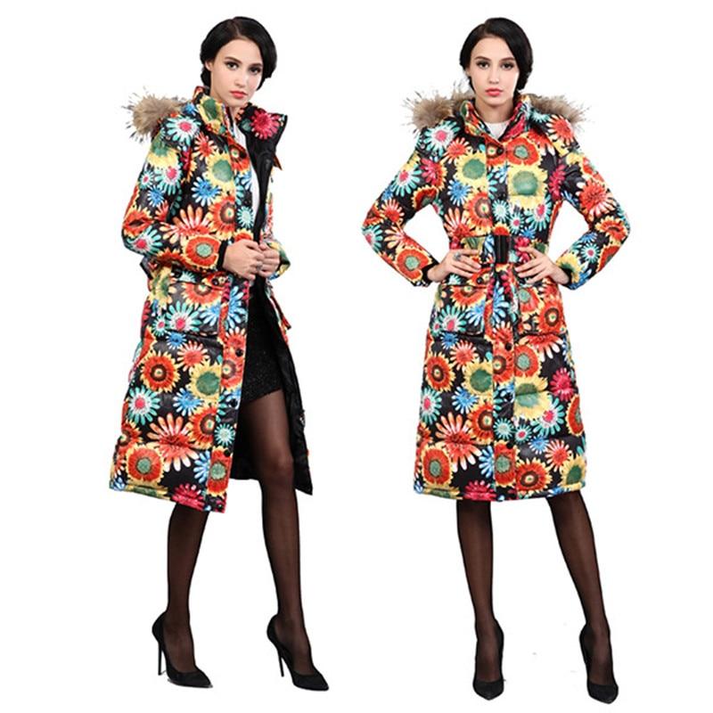 Cotton Coat 2016 New Winter Jacket Women Clothing Ultra Long Padded Parka Women Hooded Warm Outerwear Coat Padded F794