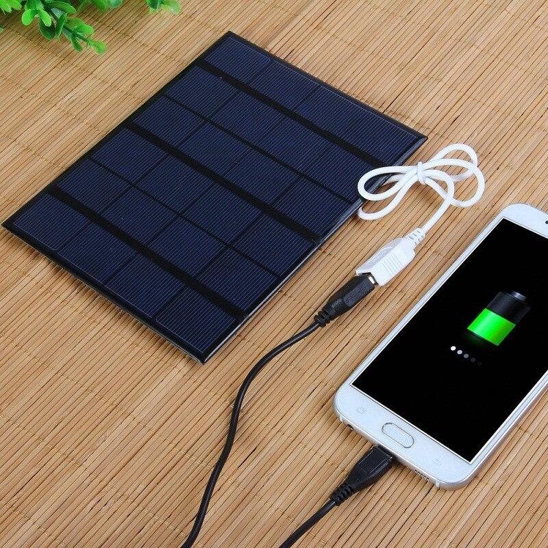 3 5w carregador solar policristalino celula solar painel solar usb carregador movel solar para banco de