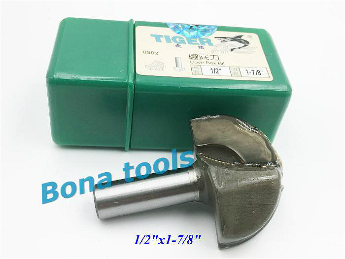 TIGER 1/2x1-7/8 CNC tools solid carbide round nose Bits Round Nose Cove Core Box Router Bit Shaker Cutters For Woodworking