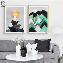 Nordic Canvas Posters And Prints Wall Art Geometric Painting Pictures for Home Decoration, Marble Decor
