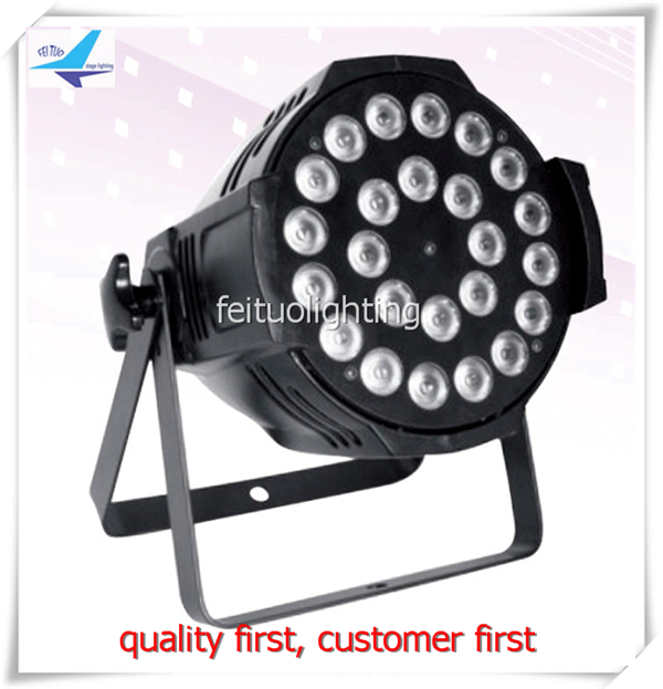 free shipping (8 lights+1 flight case) 24x18w rgbaw uv 6 in 1 LED DJ PAR Light Stage Lighting Disco Projector