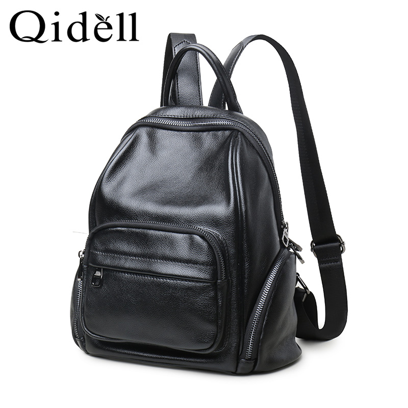 Small Genuine Leather Backpack/ Small School Bags Mini Backpack Leather Shoulder Bag faux leather flowers mini backpack