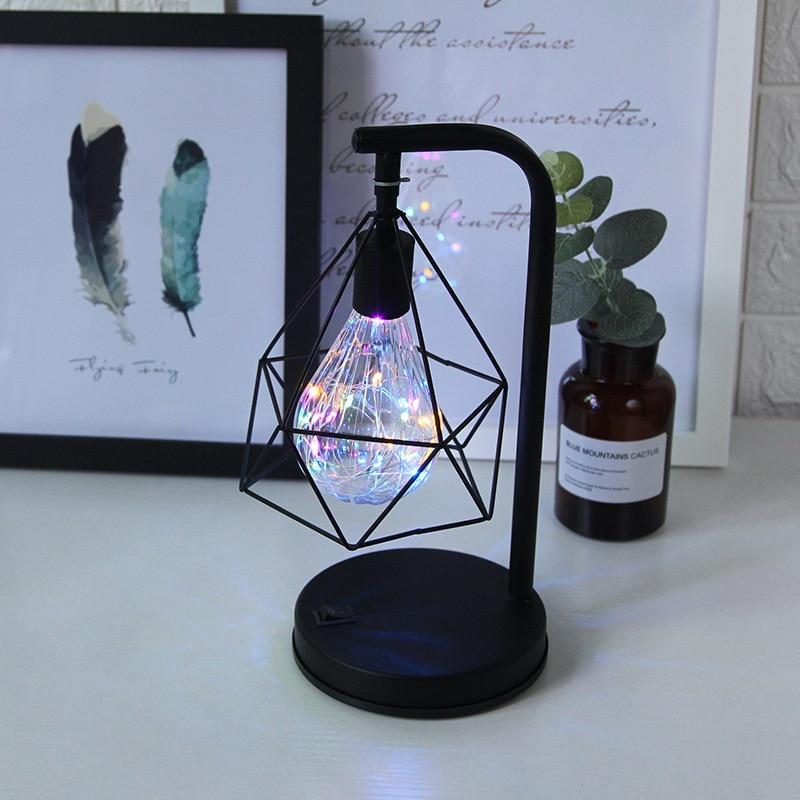 LED fer Art bureau lampe tactile interrupteur LED chambre nuit lumière nouveauté lumière pour filles enfants noël maison chambre décoration