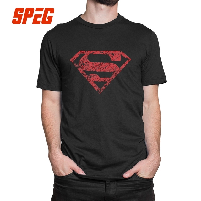 10b7727e Boy of Steel Superman Tee Shirts Purified Cotton Male Vintage Style T-Shirts  Short-Sleeved Lightweight T Shirts