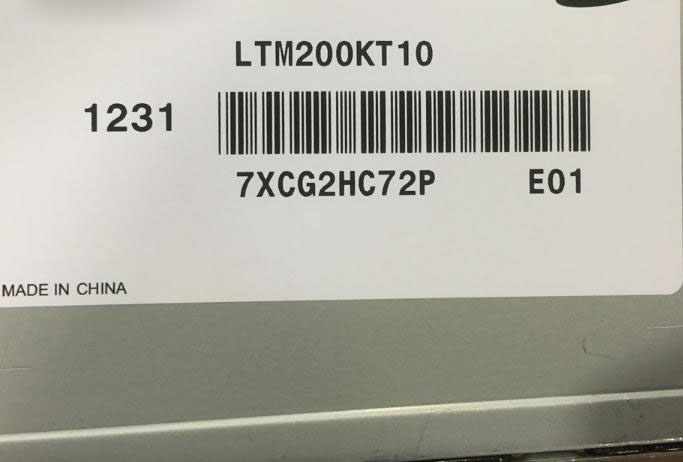 Original LTM200KT10 20.0 Inch TFT LCD Display ht17e12 200 lcd display screens