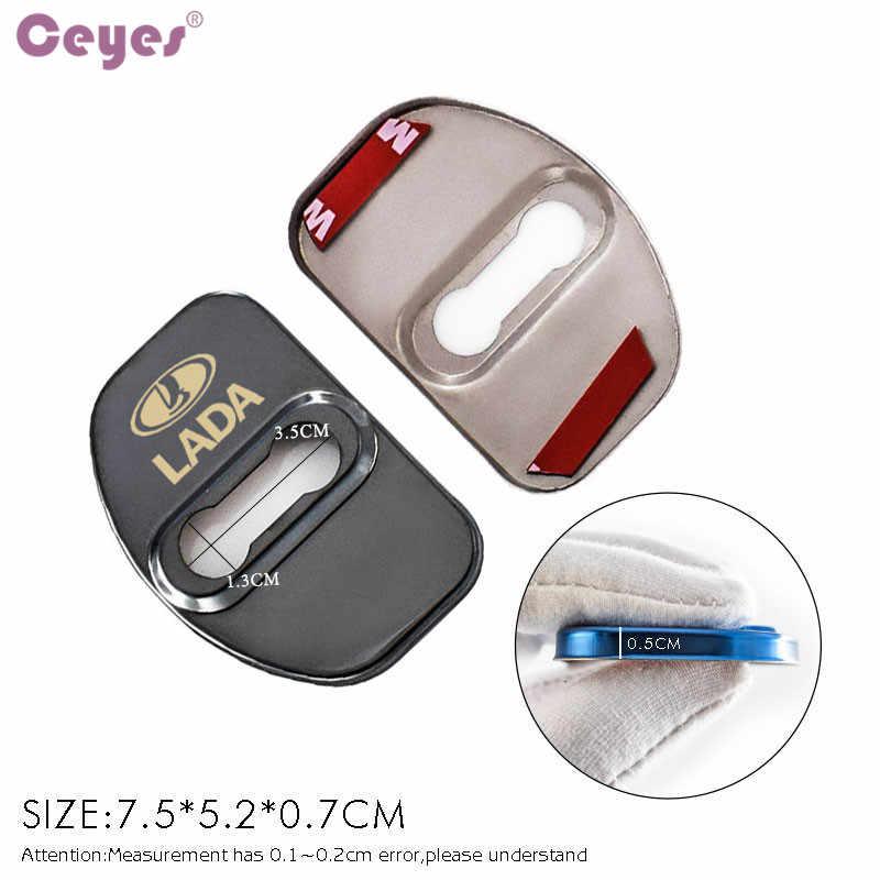 Couvercle de serrure de porte automatique de style de voiture Ceyes adapté pour Lada Xray Vesta pour Renault Latitude Captur scénic Megane accessoires de voiture