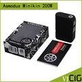 100% Оригинал Asmodus Minikin 200 Вт Окно Мод VW TC Жидкостью Vape Mod Fit Двойной 18650 Батареи