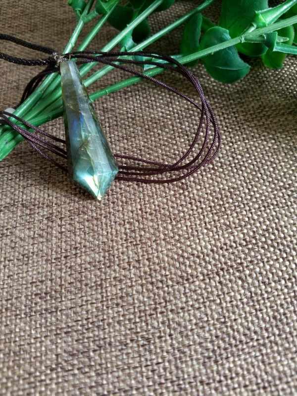 Pendentif pendule spirituel en pierre de lune naturelle cristaux d'énergie pendentif à breloque cristaux d'énergie pendentif à breloque
