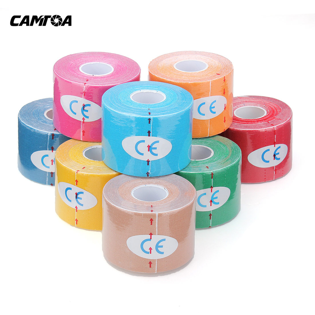 NEW 1 Roll Waterproof breathable Sports Kinesiology Muscles Care Fitness Athletic Health Cotton Elastic Adhesive Tape 5M * 5CM